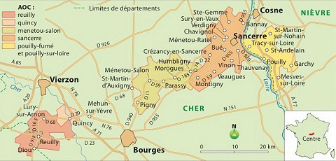 Wines the regional appellations of the loire valley and for Mairie menetou salon